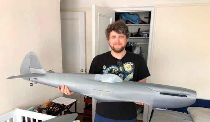 3D printed Spitfire Mk IX